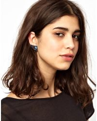 ASOS - Blue Maria Francesca Pepe Thorn Shape Stud Earrings - Lyst