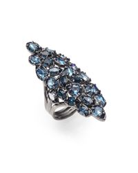 Alexis Bittar - Blue Elongated Cluster Ring - Lyst