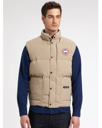 Canada Goose chateau parka outlet authentic - Canada goose Freestyle Vest in Beige for Men (TAN) | Lyst