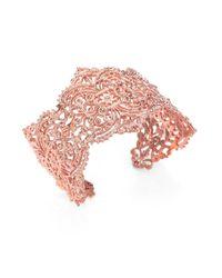 Iam By Ileana Makri | Pink Chantilly Cuff Bracelet | Lyst