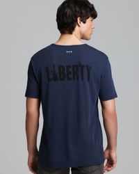John Varvatos - Blue Usa Statue Of Liberty Graphic Tee for Men - Lyst