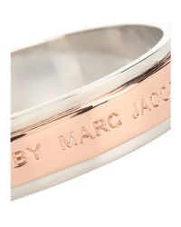 Marc By Marc Jacobs | Pink Logo Bangle Bracelet | Lyst