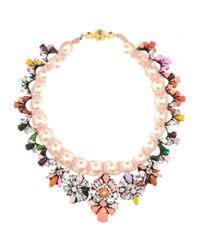 Shourouk | Multicolor Marisa Jumble Embellished Necklace | Lyst