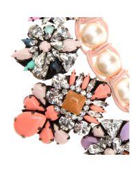 Shourouk - Multicolor Marisa Jumble Embellished Necklace - Lyst