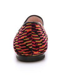 M Missoni | Red Printed Smoking Slippers | Lyst