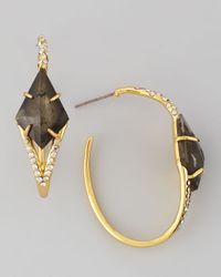 Alexis Bittar | White Miss Havisham Pyrite Doublet Hoop Earrings | Lyst