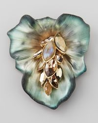 Alexis Bittar | Green Neo Boho Ombre Small Cascade Day Lily Pin | Lyst