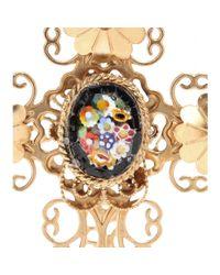 Dolce & Gabbana | Metallic Goldplated Clipon Earrings | Lyst