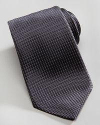 Ermenegildo Zegna | Blue Microneat Silk Tie Charcoal for Men | Lyst