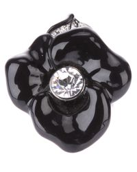 Kenneth Jay Lane | Black Flower Ring | Lyst