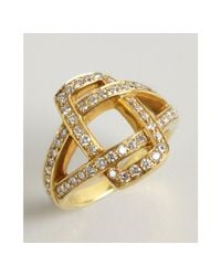 Kwiat - Metallic Gold and Diamond Solaris Crossover Ring - Lyst