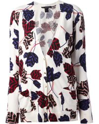 Marc By Marc Jacobs White Floral Print Cardigan