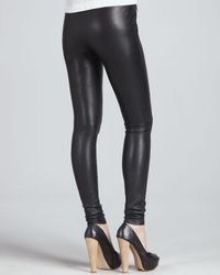 Robert Rodriguez | Black Stretch Leather Zip Front Leggings | Lyst