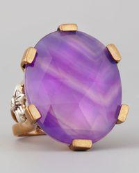 Stephen Dweck - Oval Purple Agate Statement Ring - Lyst