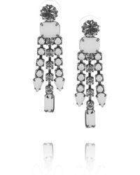 Tom Binns | White Carte Blanche Swarovski Crystal Drop Earrings | Lyst