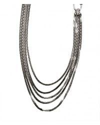 AllSaints - Metallic Delaunay Necklace - Lyst