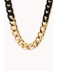Forever 21 | Metallic Sleek Curb Chain Necklace | Lyst