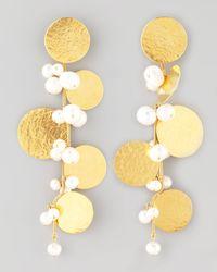Herve Van Der Straeten | Metallic Pastilles Drop Earrings | Lyst