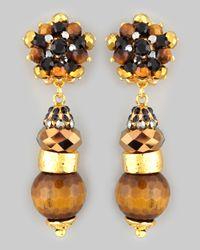 Jose & Maria Barrera - Tigers Eye Drop Earrings - Lyst