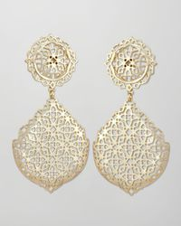 Kendra Scott | Metallic Genevieve Goldplate Filigree Earrings | Lyst