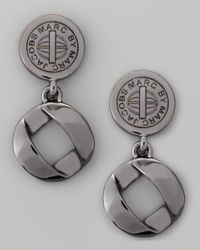 Marc By Marc Jacobs - Metallic Cable Linkdrop Earrings Gunmetal - Lyst