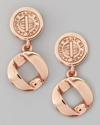 Marc By Marc Jacobs - Metallic Cable Link-drop Earrings - Lyst
