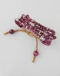 Tai - Purple Multistrand Beaded Bracelet - Lyst