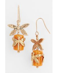 Tory Burch | Orange Dragonfly Drop Earrings | Lyst