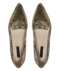 Won Hundred - Brown Elm Gold Slipper Shoes - Lyst