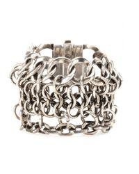 Alexander McQueen - Metallic Chain Bracelet - Lyst