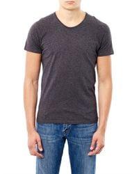 American Vintage   Gray Denver Crew-Neck T-Shirt for Men   Lyst