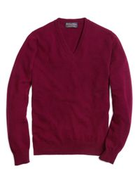 Brooks Brothers | Purple Cashmere V-neck Sweater for Men | Lyst