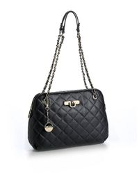 DKNY - Black Quilted Leather Bag - Lyst