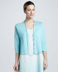 Eileen Fisher - Blue Bindu Silk Beaded Necklace - Lyst