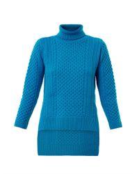 Eudon Choi - Blue Nikolai Steppedhem Sweater for Men - Lyst