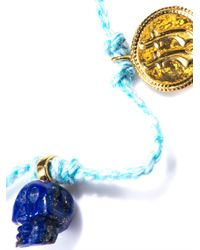 Jade Jagger | Blue Lapis Skull Coin Friendship Bracelet | Lyst