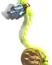 Jade Jagger - Yellow Labradorite Skull Gold Plated Coin Bracelet - Lyst
