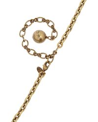 Lanvin - Metallic Stephanie Gold Tone Necklace - Lyst