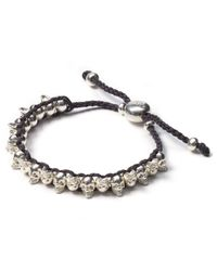 Links of London | Mini Skull Gray Friendship Bracelet | Lyst