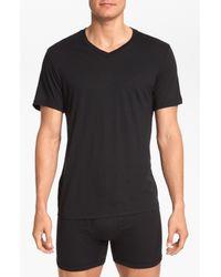 Michael Kors | Black 'soft Touch' V-neck T-shirt, (3-pack) for Men | Lyst