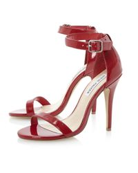 Steve Madden | Red Realovepatent Single Sole Sandals | Lyst