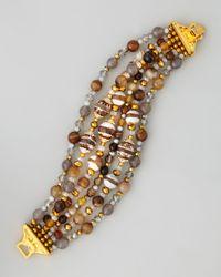 Jose & Maria Barrera | Brown Multistrand Fire Agate Bracelet | Lyst
