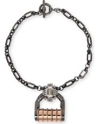 Mawi | Gray Mawi Padlock Crystal Necklace | Lyst