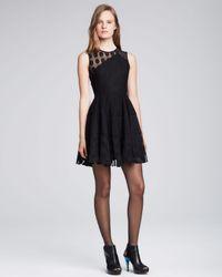 Nanette Lepore - Black Parisienne Sheer Dotted Dress - Lyst