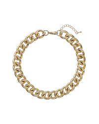 TOPSHOP | Metallic Gold Curb Chain Choker | Lyst