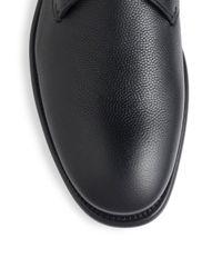 Ferragamo - Black Stefano Pebbled Leather Oxfords for Men - Lyst