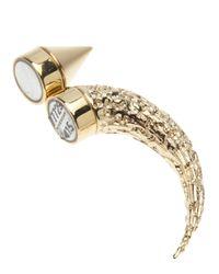 Givenchy - Metallic Horn Earring for Men - Lyst