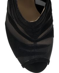 Jimmy Choo - Black Kerfield Suede and Mesh Ankle Boots - Lyst