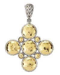 John Hardy | Metallic Palu Gold Silver Cross Pendant | Lyst