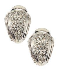 John Hardy - Metallic Small Shrimp Diamond Pave Earrings - Lyst